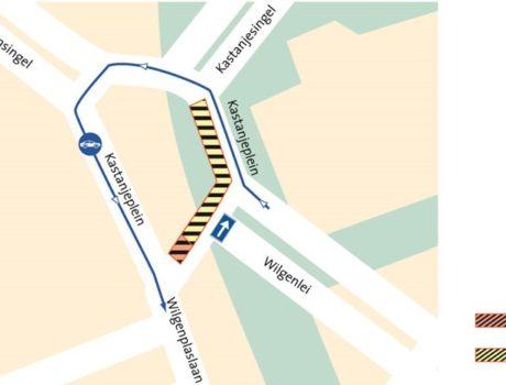 Werkzaamheden tram  en riolering Kastanjeplein